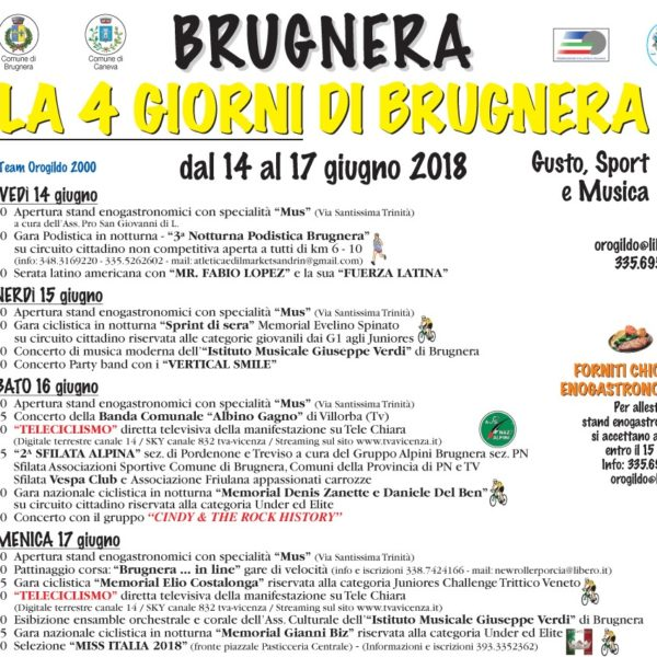 """""""La 4 giorni di Brugnera""""….noi ci siamo!!"""